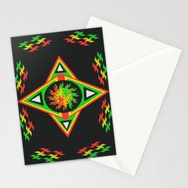 star  rasta mandala patt Stationery Cards