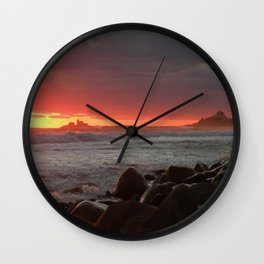 Red at night sailor's delight Wall Clock