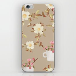 Coffee & Flowers iPhone Skin