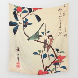 Camellia Branch Wall Tapestry