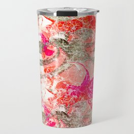 Marbling in Pink Travel Mug