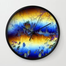 ABSTRACT - My blue heaven Wall Clock