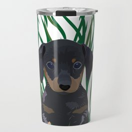 Sausage Dog Design Travel Mug