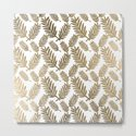 Elegant faux gold foil tropical leaves floral pattern by pink_water