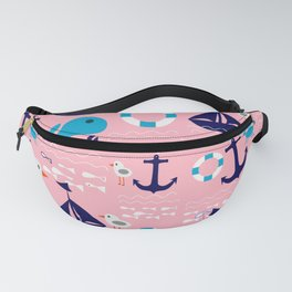 Summer boat pink Fanny Pack