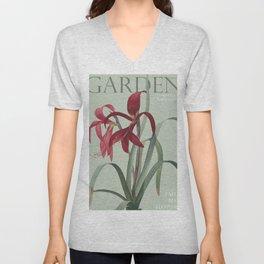 Victoria's Garden, feat. Amaryllis Formosissima, Magazine Cover Unisex V-Neck