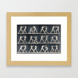Time Lapse Motion Study Men Boxing Boxer Boxers Fighting Ring Framed Art Print