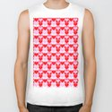 Love Heart Red Pink and White Check Pattern by markuk97