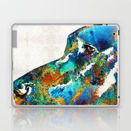 Colorful Dog Art - Loving Eyes - By Sharon Cummings Laptop & iPad Skin