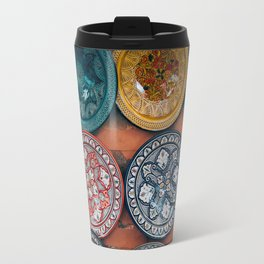 Arabic Moroccan Plates on Wall in Marrakech Travel Mug