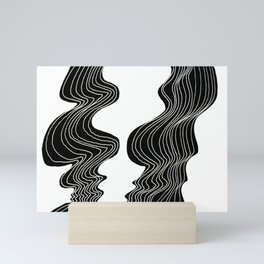 Parallel Lines No.: 02. - White Lines Mini Art Print