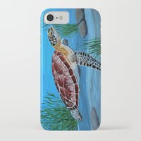 sea turtle iPhone & iPod Cases featuring Sea turtle  by maggs326