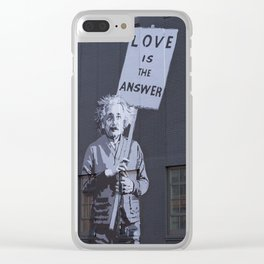 Love is the Answer Clear iPhone Case