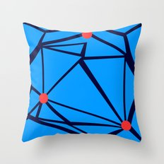 3 Red Dots Throw Pillow