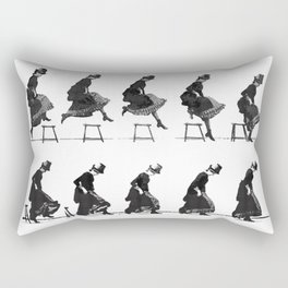 Woman Jumping Rectangular Pillow