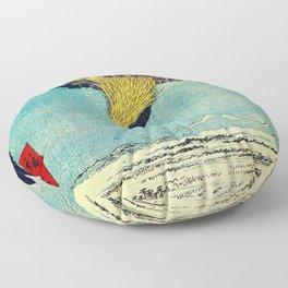Hiroshige, Hawk Flight Over Field Floor Pillow