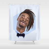 danny ivan Shower Curtains featuring Danny Brown by LinnMaria_ink