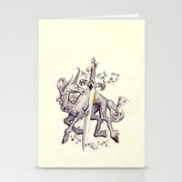 witchcraft Stationery Cards featuring Witchcraft by Janet Kim