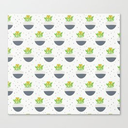 Potted Kalanchoe Plant Mom Pattern Canvas Print