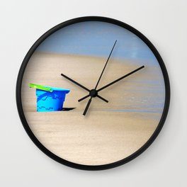 Little Blue Bucket Wall Clock