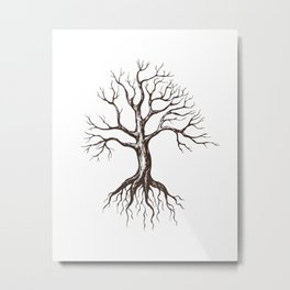 Bare tree Metal Print