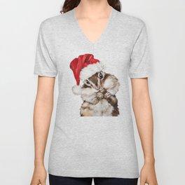 Christmas Squirrel Unisex V-Neck