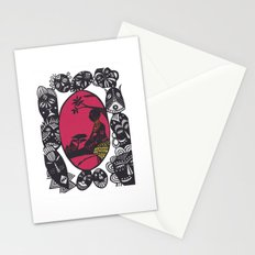 African Masks Stationery Cards
