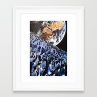 penguins Framed Art Prints featuring Penguins by John Turck