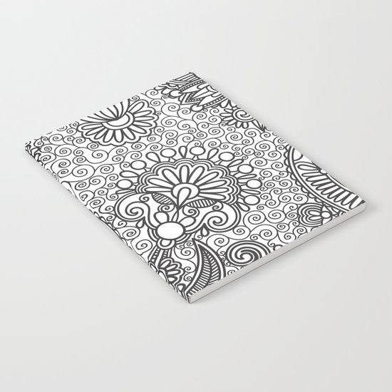 Floral B&W Notebook