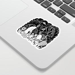 Skeletal Trees Sticker
