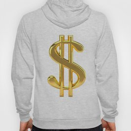 Gold Dollar Sign on White Hoody