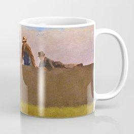 Five Boys On A Wall - Eastman Johnson Coffee Mug
