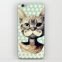 kitten iPhone & iPod Skins featuring Kitten by zumzzet