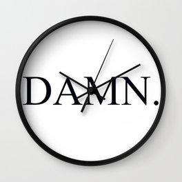 Damn Kandrick Lamar Wall Clock