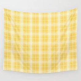 Spring 2017 Designer Color Primrose Yellow Tartan Plaid Check Wall Tapestry