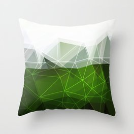 Green abstract background Throw Pillow