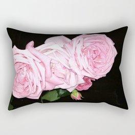 Pink roses for friendship Rectangular Pillow