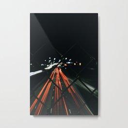 Long Exposure City Lights  Metal Print