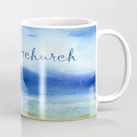 reassurance Mugs featuring The Sea Is My Church (text) by Jacqueline Maldonado