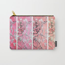 Van Gogh Almond Blossoms Deep Pink to Peach Collage Carry-All Pouch