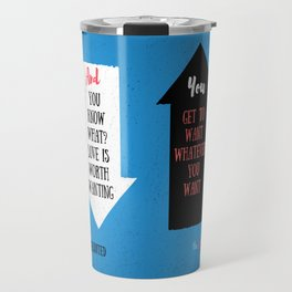 The Upside of Unrequited by Becky Albertalli quote Travel Mug