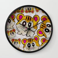 rap Wall Clocks featuring Rap Rats by EarlyHuman