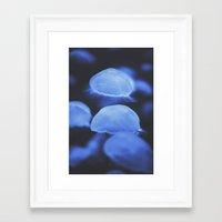 jellyfish Framed Art Prints featuring Jellyfish by Tasha Marie