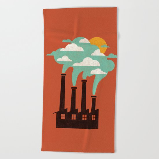 The Cloud Factory Beach Towel
