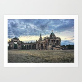 Neues Palais at dusk Art Print