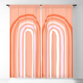 Rise above the Rainbow - Peachy pastels Blackout Curtain