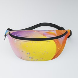 Pink Yellow Viscous Liquid Fanny Pack