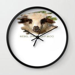Rebel Sheep Say Moo Wall Clock