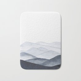 Watercolor Mountains Bath Mat