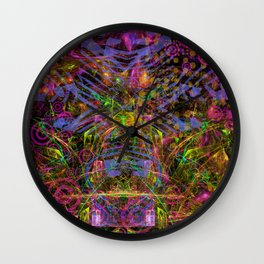 Florid Bedazzlement (abstract) Wall Clock